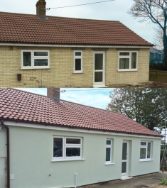 External Wall Insualtion Bungalow, Before and After