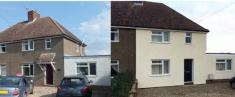 External Wall Insulation Before and After