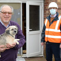 John Davies, and Rob Townley, project manager at Aran Insulation