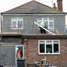 External wall insulation comprises of an insulation layer fixed to the existing exterior wall of a property, which is finished with a protective render or decorative finish