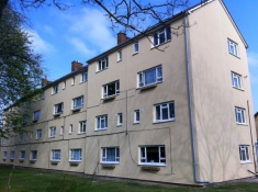 EWI finshed block of flats