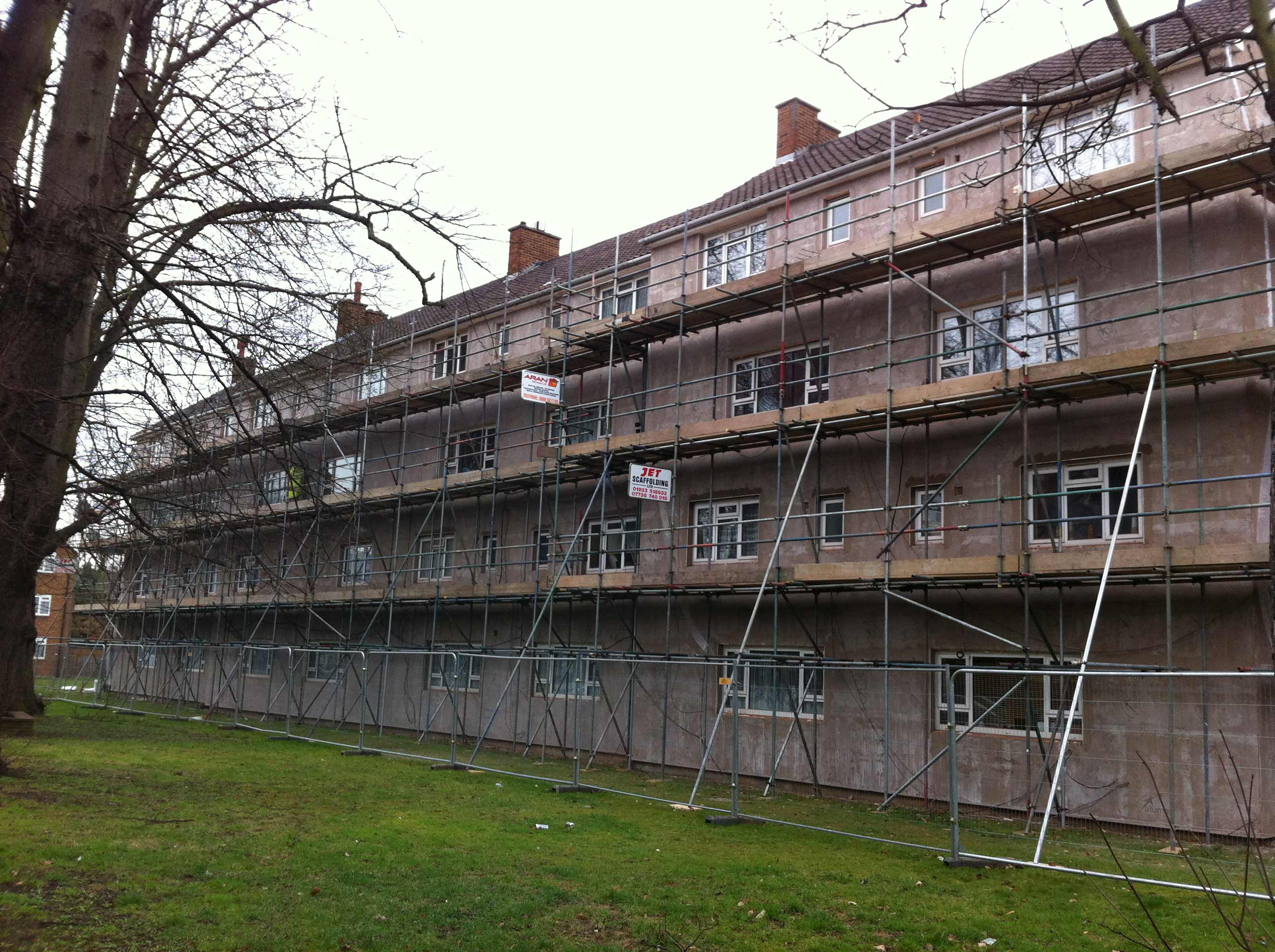 Before Insulation - Block of flats