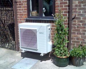 An Air Source Heat Pump Installation